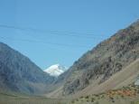 Avistando o pico do Aconcágua